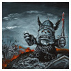 Kaapuveikko the warmonger (acrylic on canvas, 2011)